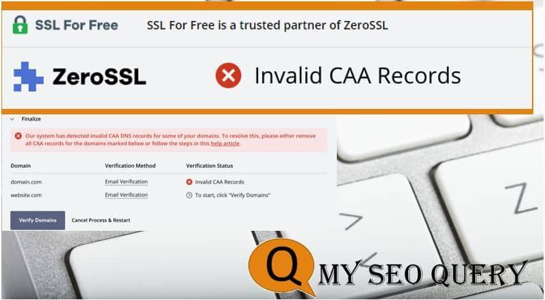 Invalid CAA DNS Record ERROR