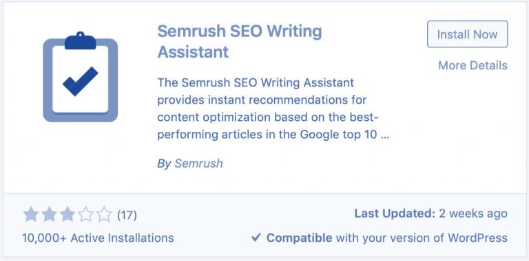 SEMrush WordPress Plugin: SEO Writing Assistant 2021 (Updated Guide To Install & Usage)