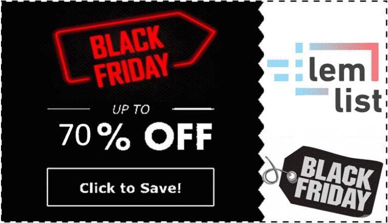 Lemlist Black Friday Cyber Monday Lifetime Deal 2021 – Lemlist AppSumo 70% Discount